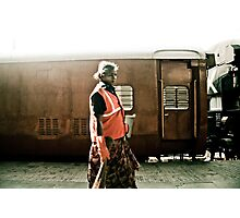 Women security guard, Mumbai, India Photographic Print