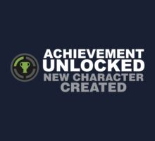 Achievement Unlocked New Character Created Kids Tee
