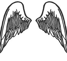 ANGEL, WINGS, Flight, Fly, Angel, Angelic, Air Force, Jets by TOM HILL - Designer