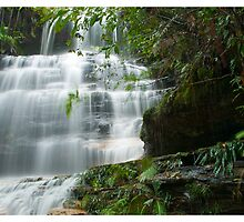 Cascading Water at Junction Falls by David Charlton