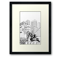 black cat felecia hardy Framed Print
