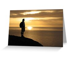 Contemplation. Greeting Card