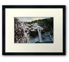 Frozen Snoqualmie Falls Framed Print