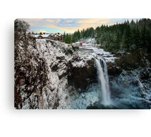 Frozen Snoqualmie Falls Canvas Print
