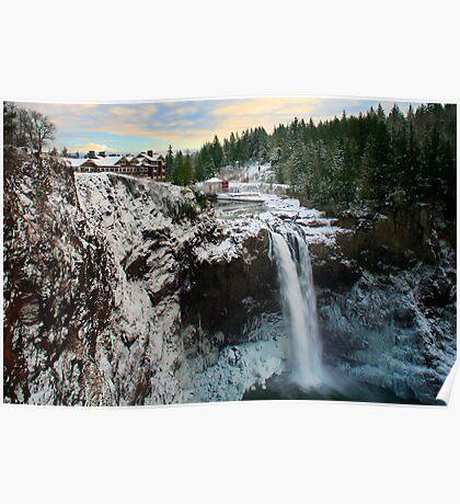 Frozen Snoqualmie Falls Poster