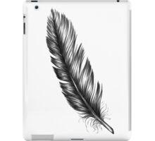 black feather iPad Case/Skin