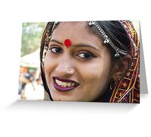 An Indian Woman Greeting Card