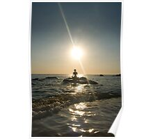 Yoga at Sunset Poster
