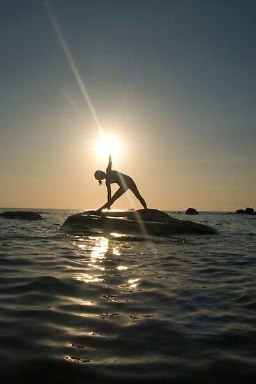 Yoga at Sunset by Sergey Kahn