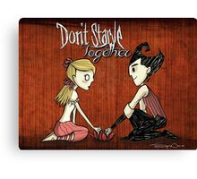 We Won't Starve Together Full Canvas Print