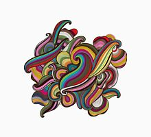 Abstract hand-drawn colorful waves background Unisex T-Shirt