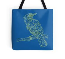 Neon Yellow Bird Tote Bag
