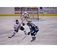 Ice Hockey Shot Photographic Print