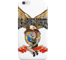 U.S. Armed Forces - The Lethal Threat with Pin Up Girl iPhone Case/Skin