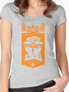 Gorilla King: SF orange Women's Fitted Scoop T-Shirt