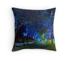 Melbourne Blues Throw Pillow
