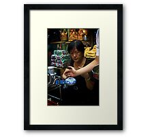 Making Tea in Ben Thanh Market Framed Print