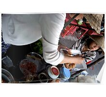 Preparing Street Food in Saigon Poster