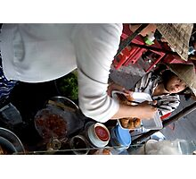 Preparing Street Food in Saigon Photographic Print
