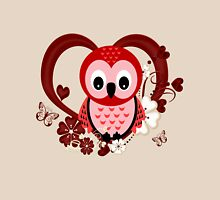 Love Owl  Womens Fitted T-Shirt