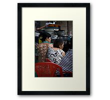 Women Practicing Cupping Framed Print