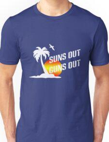 Suns out guns out geek funny nerd Unisex T-Shirt