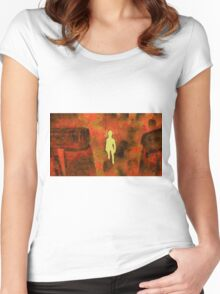 Light Being of Stonehenge by Sarah Kirk Women's Fitted Scoop T-Shirt