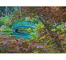 Monet's Bridge and Gardens Photographic Print