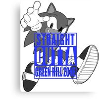 STRAIGHT OUTTA GREEN HILL ZONE Canvas Print