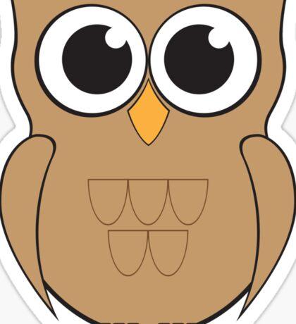 Shabby the Owl Sticker