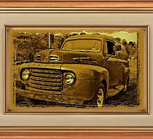 """Momma's Ford"" ... with a matted and framed presentation for prints and products by © Bob Hall"