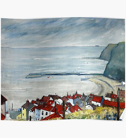 Looking Down Church Street, Staithes Poster