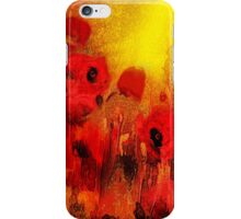 Poppy reverie'... iPhone Case/Skin