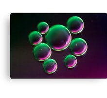 Purple Oil Canvas Print