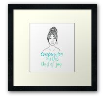 Comparison is a Thief Framed Print