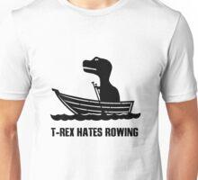 T rex hates rowing geek funny nerd Unisex T-Shirt