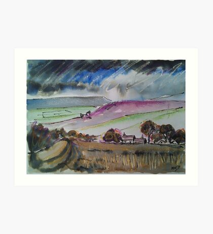 'Grouse Moors, Wharfedale' Art Print