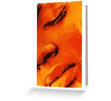 Colour Face 3 Greeting Card