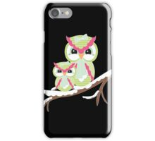 Two Owls for Christmas  iPhone Case/Skin