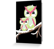 Two Owls for Christmas  Greeting Card