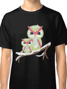 Two Owls for Christmas  Classic T-Shirt