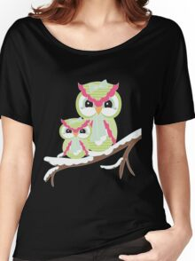 Two Owls for Christmas  Women's Relaxed Fit T-Shirt