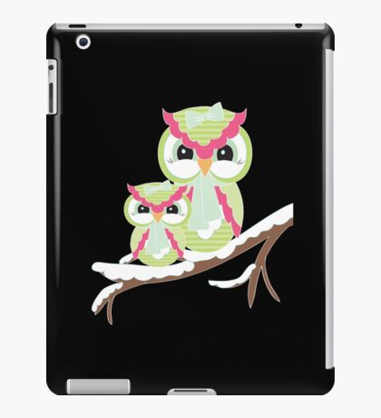 Two Owls for Christmas  iPad Case/Skin