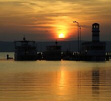 Sunset At Neusiedlersee by Mythos57