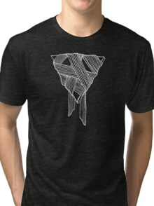Organic Geometry (White Ink) Tri-blend T-Shirt
