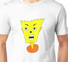 Yellow shocked cartoon Unisex T-Shirt
