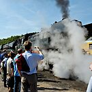 Steam Loco at Bochum Museum, Germany. by David A. L. Davies