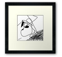A squiggle for Christmas Framed Print