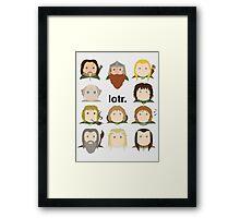 Lotr. Framed Print
