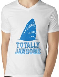Totally jawsome awesome shark geek funny nerd Mens V-Neck T-Shirt